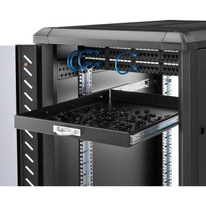 "StarTech.com 1U Sliding Server Rack Mount Keyboard Shelf Tray - 55lbs - 22"" Deep Steel Pull Out Drawer for 19"" AV, Network"