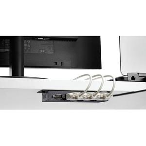 StarTech.com 4 Port USB to Serial RS232 Adapter - Wall Mount - Din Rail - COM Port Retention - FTDI USB to DB9 RS232 Hub (