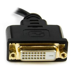 StarTech.com Mini HDMI auf DVI-D Adapter - St/Bu - 20cm - Erster Anschluss: 1 x Mini HDMI Stecker Digital Audio/Video - Zw