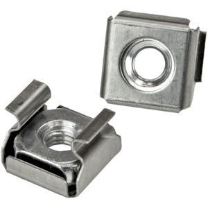 StarTech.com CABSCREWM52 Schraube, Sattel - TAA-konform - Rack-Schraube, Käfigmutter - Edelstahl - Silber - 1Paket