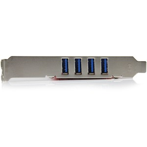 StarTech.com USB Adapter - PCI - Plug-in-Karte - Rot - TAA-konform - 4 Total USB Port(s) - 4 USB 3.0 Port(s) - PC