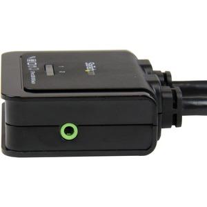 StarTech.com KVM-Switchbox - 2 Computer - 1 Lokaler Benutzer(n) - 1920 x 1200 - 3 x USB - 2 x HDMI-Kabel