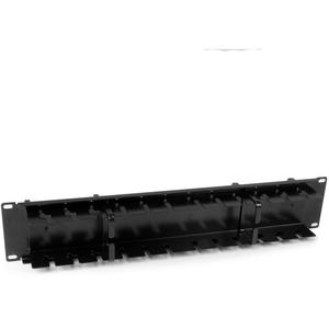 """StarTech.com CMPNL2U Kabelmanagement-Panel - Schwarz - 1 Paket - TAA-konform - 2U Höhe - 19"""" Breite - Stahl"""