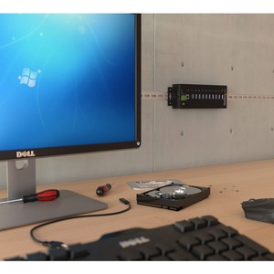 StarTech.com USB-Hub - USB - Extern - Schwarz - TAA-konform - 10 Total USB Port(s) - 10 USB 3.0 Port(s)