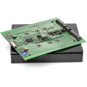 StarTech.com 2 x Gesamtzahl Einschübe DAS-Speichersystem Tragbar - TAA-konform - M.2 - USB 3.1 (Gen 2) - Serial ATA/600 St