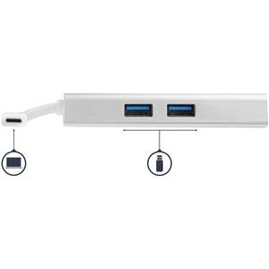 StarTech.com USB-Typ C Docking Station für Notebook - 60 W - Silber, Weiß - 1 Unterstützte Displays - 4K - 4096 x 2160, 38