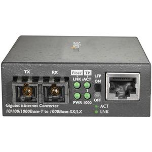 StarTech.com Multimode SC Fiber Ethernet Media Converter - 1000BASE-SX Gigabit Fiber Optic to Copper Bridge - 10/100/1000
