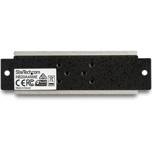 StarTech.com 4 Port USB 2.0 Hub - Metal Industrial USB Hub (USB-A to 4x USB-A) - Mountable, ESD/Surge Protection - Extende