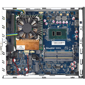 Shuttle XPC slim DH02U3 Barebone System - Slim PC - Intel Core i3 7th Gen i3-7100U - 32 GB DDR4 SDRAM Maximum RAM Support
