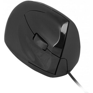 Urban Factory USB Wired Ergo Mouse Right Hand - Optical - Cable - Black - 1 Pack - USB 2.0 - 2400 dpi - Scroll Wheel - 3 B