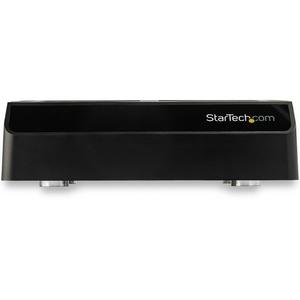 StarTech.com Laufwerk-Dock - USB 3.1 Typ C Host Interface - UASP-Support Extern - Schwarz - Hot-Swapping-fähige Einschübe