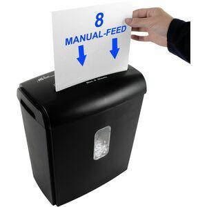 Royal Sovereign 8 Sheet Manual Cross-Cut Shredder (RDS-15C8) - Cross Cut - 8 Per Pass - for shredding Staples, Paper, Cred