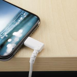 StarTech.com 1m USB-A auf Lightning-Kabel - 90° - Aramidfaser - Apple MFi-zertifiziert - Weiß (RUSBLTMM1MWR) - Lightning P