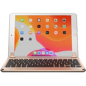 """Brydge BRY80032 Keyboard/Cover Case for 10.2"""" Apple iPad (7th Generation), iPad (8th Generation) Tablet - Gold - Aluminum"""