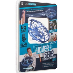 MYEPADS Hover Star- Motion Controlled UFO- Includes Glowing LED Lights- Blue - 6+ Age - Battery Powered - Blue GLOWING LED