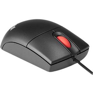 Lenovo - Open Source Optical 3-Button Travel Wheel Mouse - Optical - Cable - Black - USB - 800 dpi - Scroll Wheel - 3 Butt