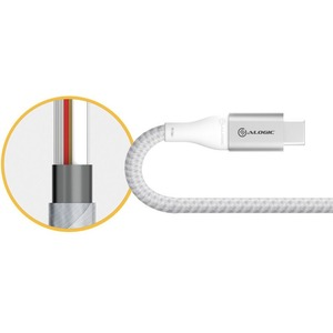 """Alogic Super Ultra USB 3.1 USB-C to USB-A Adapter - 15cm - Silver - 5.91"""" USB/USB-C Data Transfer Cable for Phone, Tablet,"""
