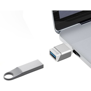 Alogic Ultra Mini USB-C to USB-A Adapter -Silver - 1 Pack - 1 x USB Type C Male USB - 1 x USB Type A Female USB - Silver T