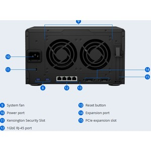 Synology DiskStation DS1621+ SAN/NAS Storage System - AMD Ryzen V1500B Quad-core (4 Core) 2.20 GHz - 6 x HDD Supported - 0