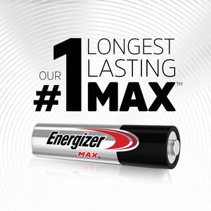 Energizer MAX Alkaline AAA Batteries, 2 Pack - For Multipurpose - AAA - 1.5 V DC - Alkaline - 2 / Pack BATTERY - 2 PACK