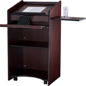 """Oklahoma Sound Aristocrat Non-Sound Lectern, Mahogany - Rectangle Top - 25"""" Table Top Width x 20"""" Table Top Depth - 46"""" He"""
