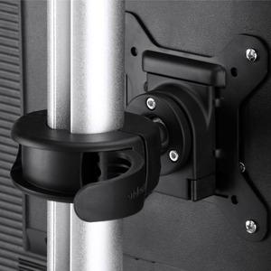 Atdec dual stack or single monitor desk mount - Freestanding base - Loads up to 26.5lb flat or 20lb curved - VESA 75x75, 1
