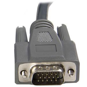 StarTech.com 3 m ultradünnes USB VGA 2-in-1-KVM-Kabel - Erster Anschluss: 1 x HD-15 Stecker VGA - Zweiter Anschluss: 1 x T