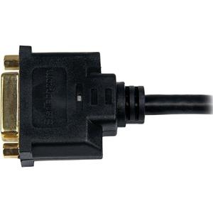 StarTech.com Câble adaptateur vidéo HDMI vers DVI-D de 20 cm - HDMI mâle vers DVI femelle - 1er bout: 1 x HDMI Mâle Audio/