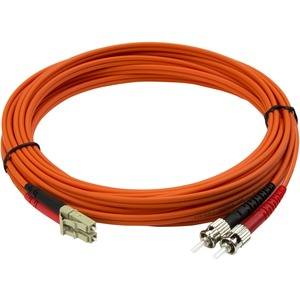 StarTech.com Multimode LC auf ST Glasfaserkabel 5m - LWL / Glasfaser 50/125µ Duplex Patchkabel - Erster Anschluss: 2 x LC