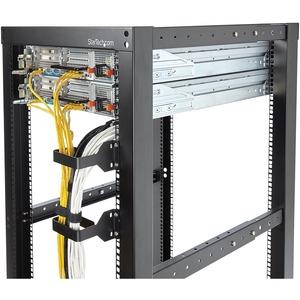 StarTech.com Vertical 2.4 x 3.9in Server Rack Cable Management D-Ring Hook- 1.5U Multi-Directional Mount - Network Rack Co