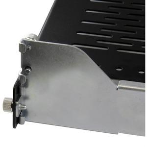 StarTech.com 2U Vented Sliding Rack Shelf w/ Cable Management Arm & Adjustable Mounting Depth - 50lbs / 22.7kg - 22.68 kg