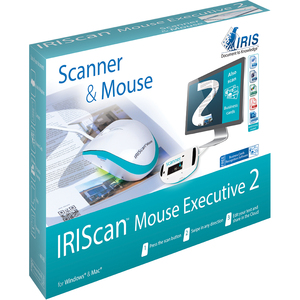 I.R.I.S Iriscan Mouse Executive-Scanner & Mouse, All-In-One - Laser - Cable - USB 2.0 - 1200 dpi - Scroll Wheel - 4 Button