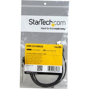 StarTech.com 1m USB 2.0 USB-A auf USB-C Kabel - Erster Anschluss: 1 x Typ A Stecker USB - Zweiter Anschluss: 1 x Typ C Ste