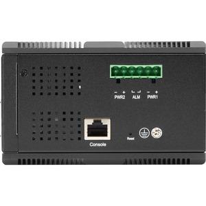 Black Box Industrial Managed Gigabit Ethernet PoE+ Switch - (8) RJ-45, (4) SFP - 8 Ports - Manageable - Gigabit Ethernet -