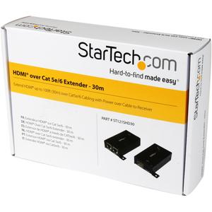 StarTech.com Video-Extender-Transmitter/Receiver - Verkabelt - 1 Eingabegerät - 1 Ausgabegerät - 100 m Reichweite - 4 x Ne