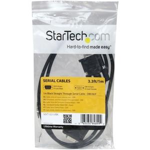 StarTech.com 1 m Seriell Datentransferkabel für Peripheriegerät - 1 - Erster Anschluss: 1 x DB-9 Stecker Seriell - Zweiter