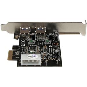 StarTech.com USB Adapter - PCI Express x1 - Plug-in-Karte - Schwarz - TAA-konform - 2 Total USB Port(s) - 2 USB 3.0 Port(s