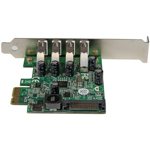 StarTech.com USB Adapter - PCI Express x1 - Plug-in-Karte - TAA-konform - UASP-Support - 4 Total USB Port(s) - 4 USB 3.0 P