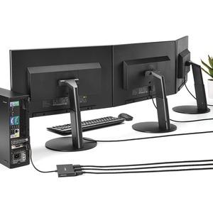 StarTech.com Signalverteiler - Plastik - 30 Hz bis 60 Hz - 3840 × 2160 - 15,20 m Maximale Betriebsreichweite - DisplayPort