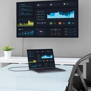 StarTech.com 2 m USB/VGA Videokabel für Projektor, Monitor, Workstation, Videogerät, Chromebook, MacBook, TV, MacBook Air,