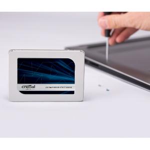 "SSD Crucial MX500 - 2.5"" Interne - 250 Go - SATA (SATA/600) - 560 Mo/s Taux de transfer maximale en lecture - 256 bits Nor"
