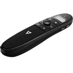 V7 Professional Wireless Green Laser Presenter - Black - Laser - Wireless - Radio Frequency - 2.40 GHz - Black - USB 2.4GH