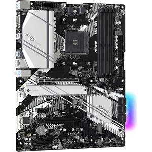 Carte Mère ASRock B550 Pro4 - AMD Chipset - Socket AM4 - ATX - 128 Go DDR4 SDRAM RAM maximale - DIMM, UDIMM - 4 x Memory S