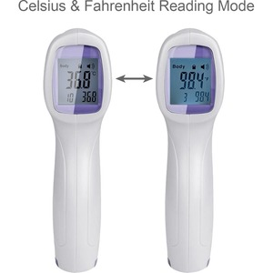 Adesso Non-Contact Infrared Forehead Thermometer - Auto-off, Non-contact, Infrared, Lightweight, Built-in Memory, Low Batt