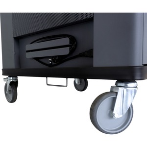 "V7 Charge Cart - 36 Devices with Intelligent Charging - US Power - Recessed Handle - 4 Casters - 5"" Caster Size - Cold-rol"