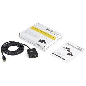 StarTech.com FTDI USB 2.0 auf Seriell Adapter - USB zu RS232 / DB9 Konverter (COM) - Erster Anschluss: 1 x DB-9 Stecker Se