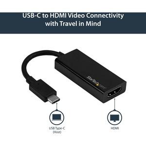 StarTech.com USB-C auf HDMI Adapter - 4K 60Hz - Erster Anschluss: 1 x HDMI-Kabel Buchse Digital Audio/Video - Zweiter Ansc