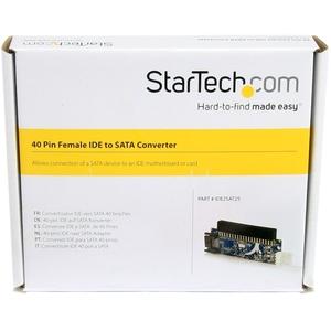 StarTech.com IDE2SAT25 Datentransferadapter - 1 x IDE Buchse, 1 x SP4 Stecker - 1 x Stecker SATA