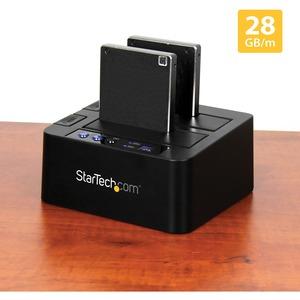 StarTech.com Laufwerk-Dock SATA/600 - USB 3.1 Typ B Host Interface - UASP-Support Extern - Schwarz - Hot-Swapping-fähige E