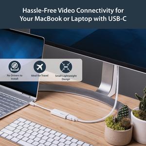 StarTech.com AV-Adapter - 1 Paket - 1 x Typ-C Stecker USB - 1 x HDMI Buchse Digitaler Audio-/Video-Anschluss - 3840 x 2160